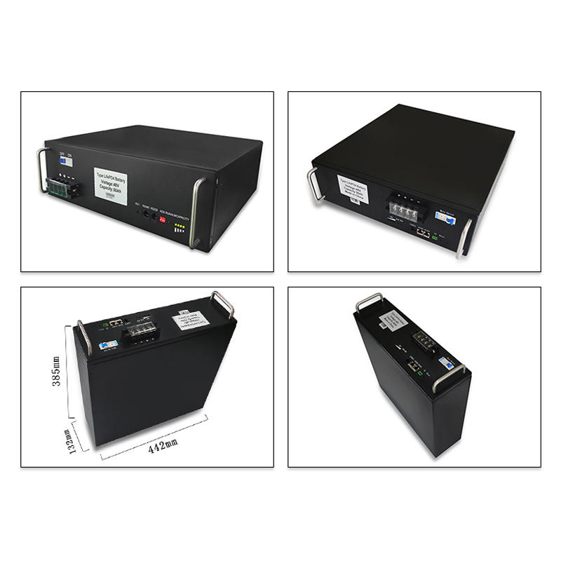 Factory direct sale 50Ah black 48V rack-mounted lifepo4 lithium battery