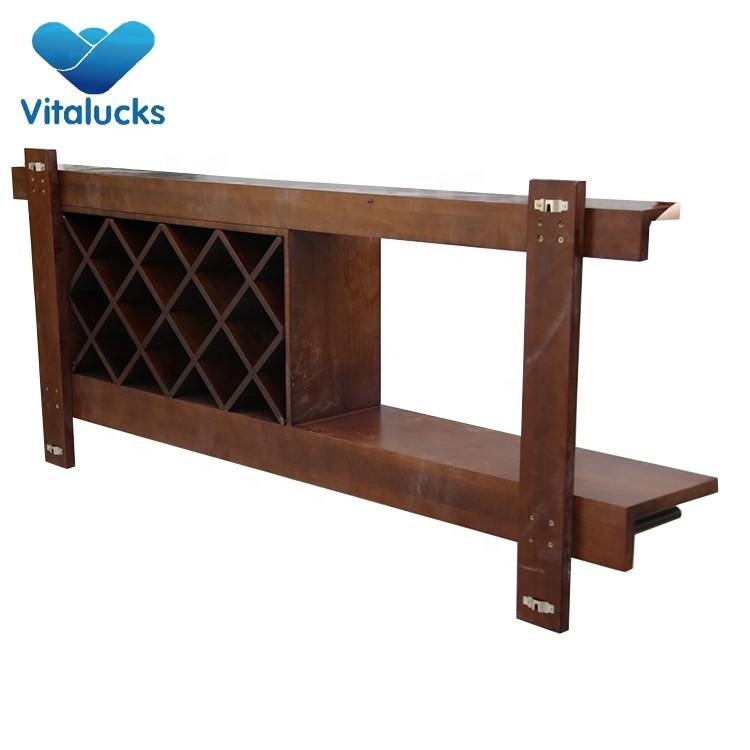 Vintage Wooden Classic Style Goblet Wine Bottle Display Rack