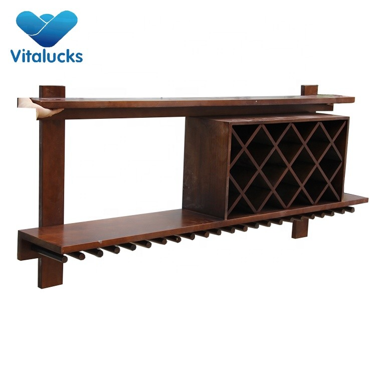 Decoration Modular Foldable Wooden Wine Rack Bottle Holder