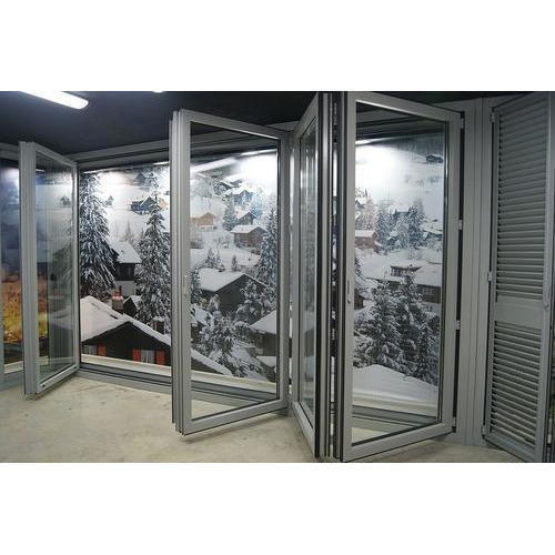 Factory Price Double Glass 5mm+24Amm+5mm German Accessories Cold InsulationAluminum Folding Door