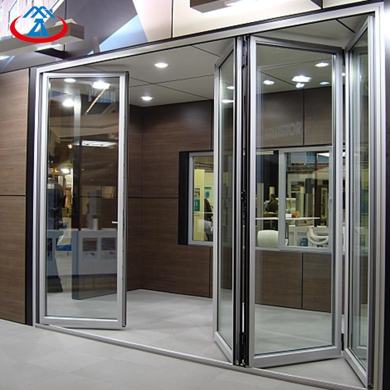 Elegant Apartment Soundproof Double Glazing Wide Folding Doors Accordion Aluminium Folding Door China