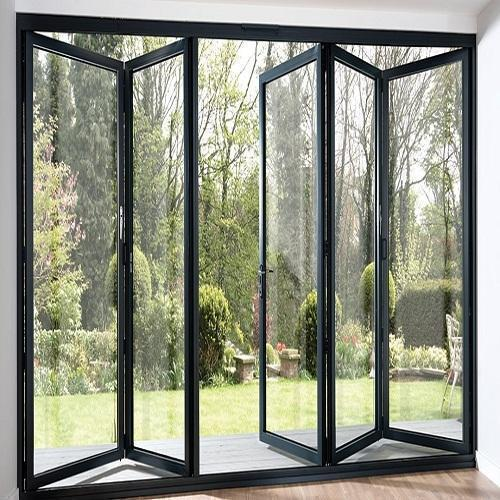 High Quality Product Sound Insulation Heat Prevention Cold Insulation Aluminum Folding Door Factory Price