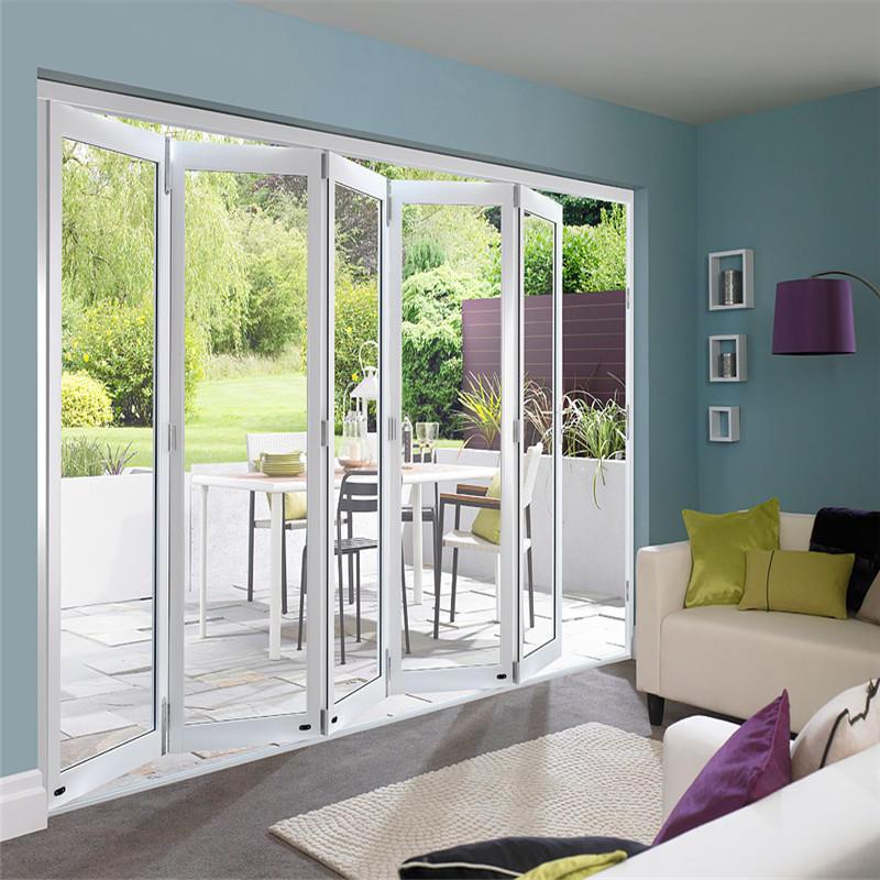 Cheap Price Outdoor Waterproof Aluminium Folding Doors Glass Door