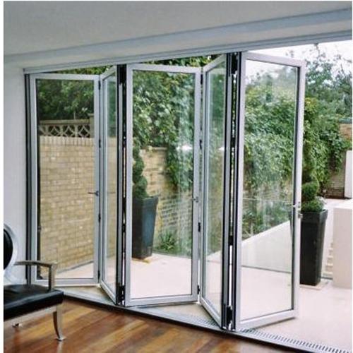 Aluminum temperedglass interior aluminum folding glass patio doors