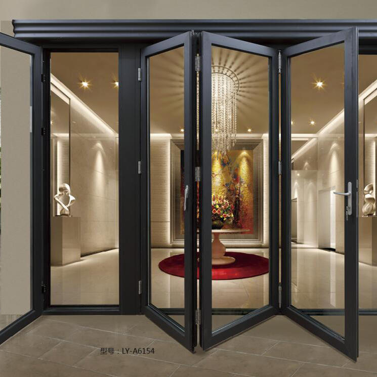 Soundproof Thermal Insulation High Performance Aluminum Folding Doors
