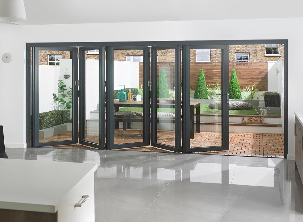 Aluminium Tempered Glass Solid bi-foldDoor Cheap Folding Door for Sale