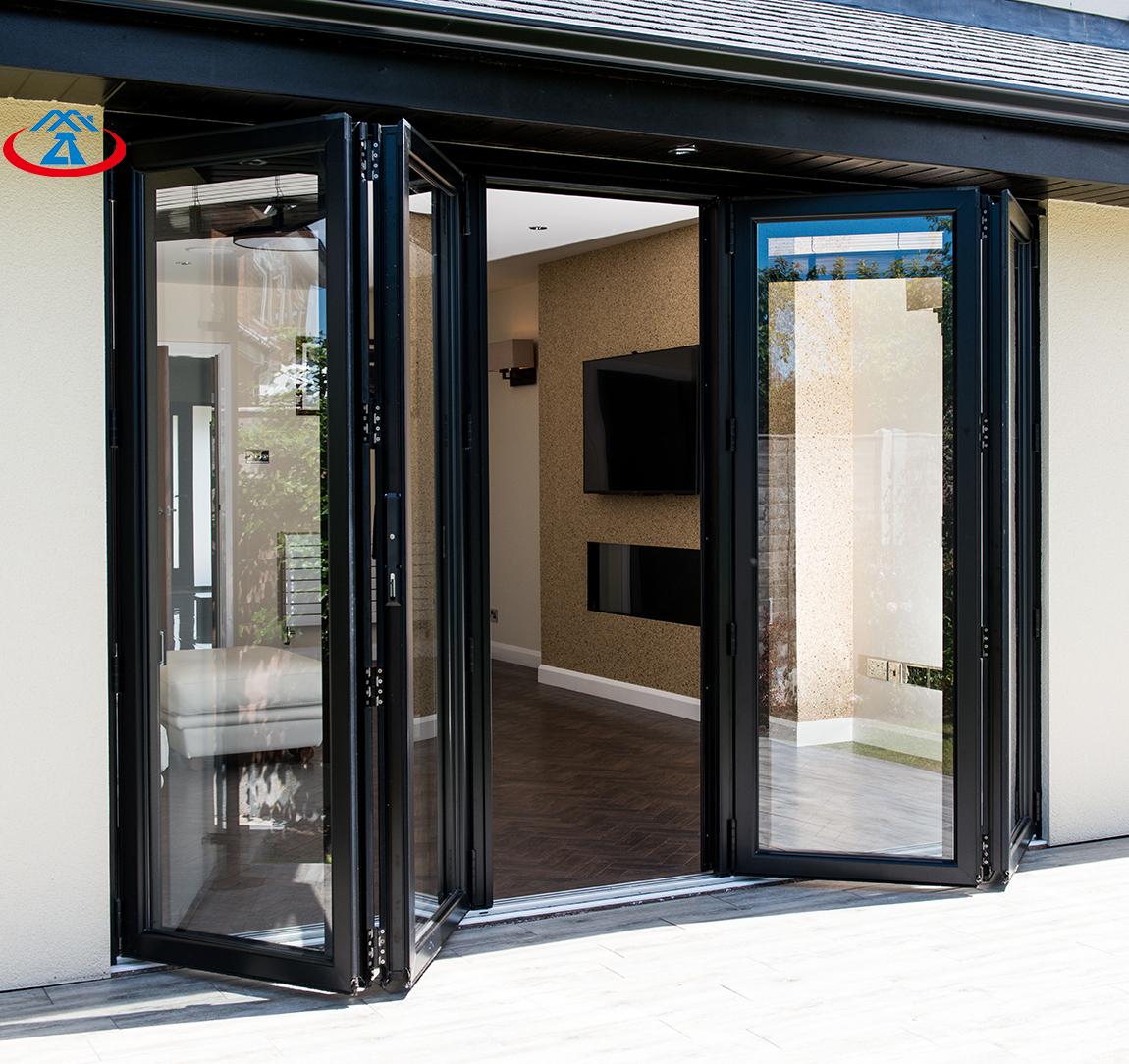 RTS Exterior Balcony Accordion Aluminum Sliding Folding Door Aluminum Bifold Door