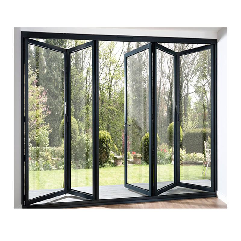 1800*2400mm Large Aluminum Bifold Door Design Glass Folding Door