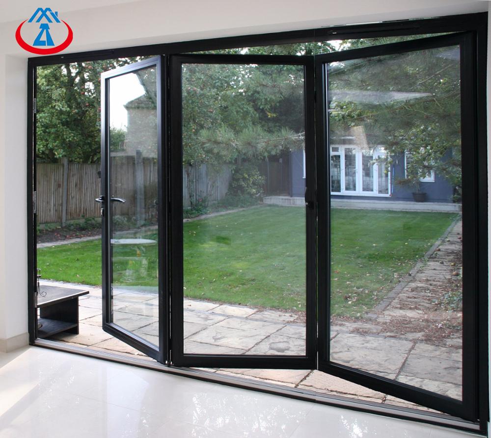 Top Quality Powder CoatingAluminum With Double Tempered GlazingBi Folding Door