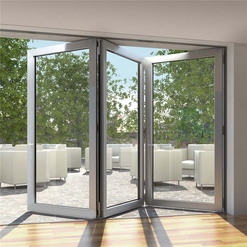 12*7 Aluminum double tempered glass5.0+24A+5.0mm folding doorbifold door