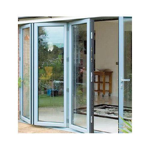 Exterior Aluminium Folding Sliding Door Balcony Patio Foldable Glass Folding Door