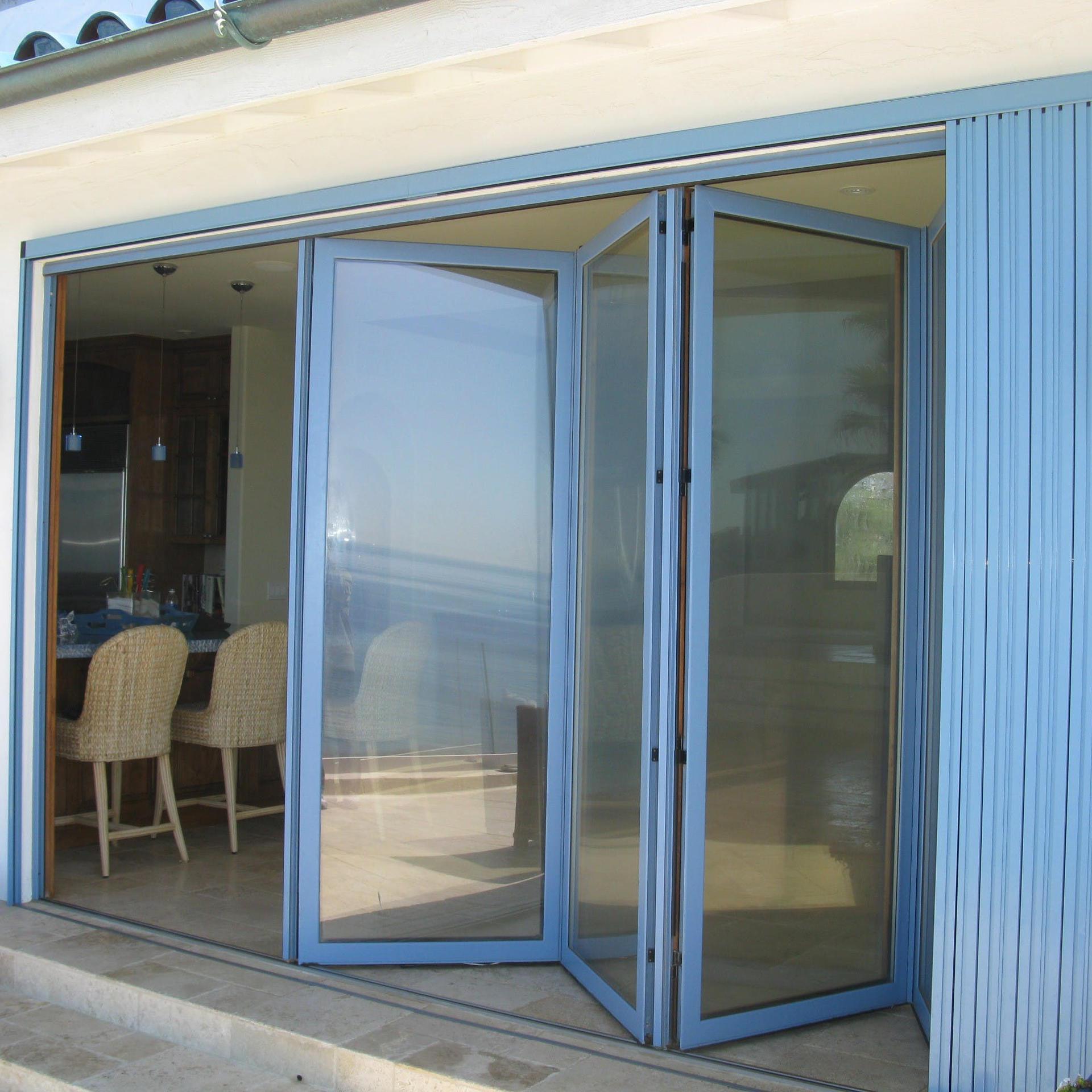 Thermally Broken Excellent Quality Double Layer Aluminum Folding Door