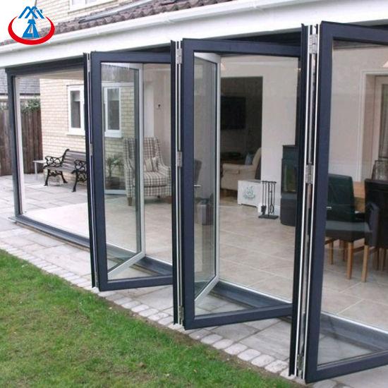 Aluminum Folding Door Design Interior Glass Bifold Doors For House