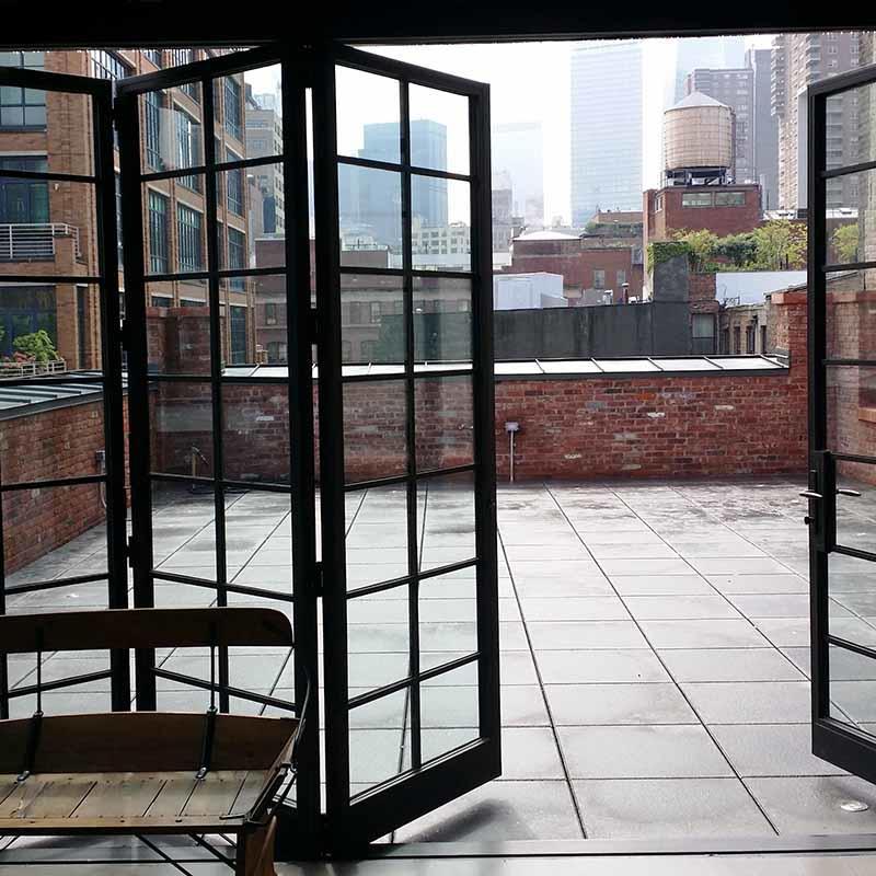 Aluminum Frame Accordion Door Tempered Glass Folding Door Factory