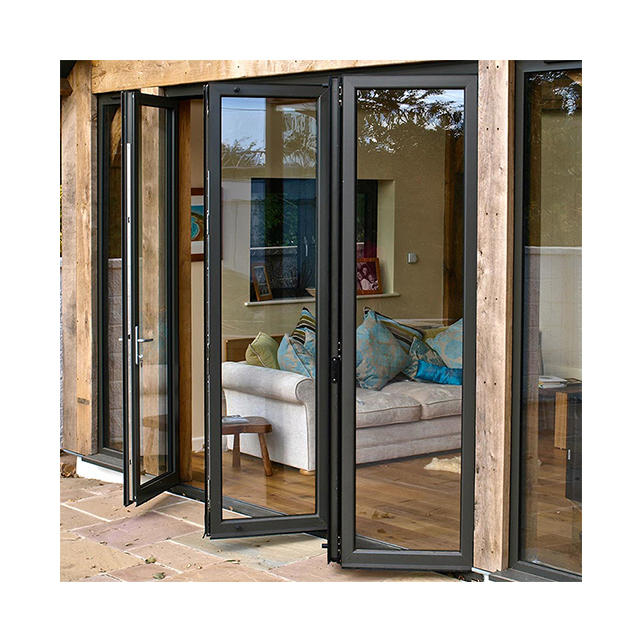 Luxury Veranda Insulated Tempered Glass Bifold Sliding Doors Bifold Doors Aluminium Folding Patio