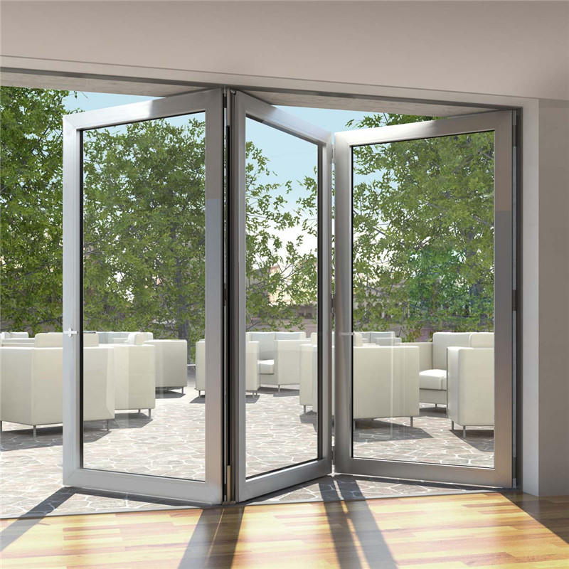 1800*2400mm Exterior Entrance Sliding Bifold Aluminum Folding Glass Door