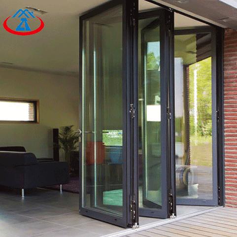 Exterior Commercial Accordion Aluminum Folding Glass Door For Sale