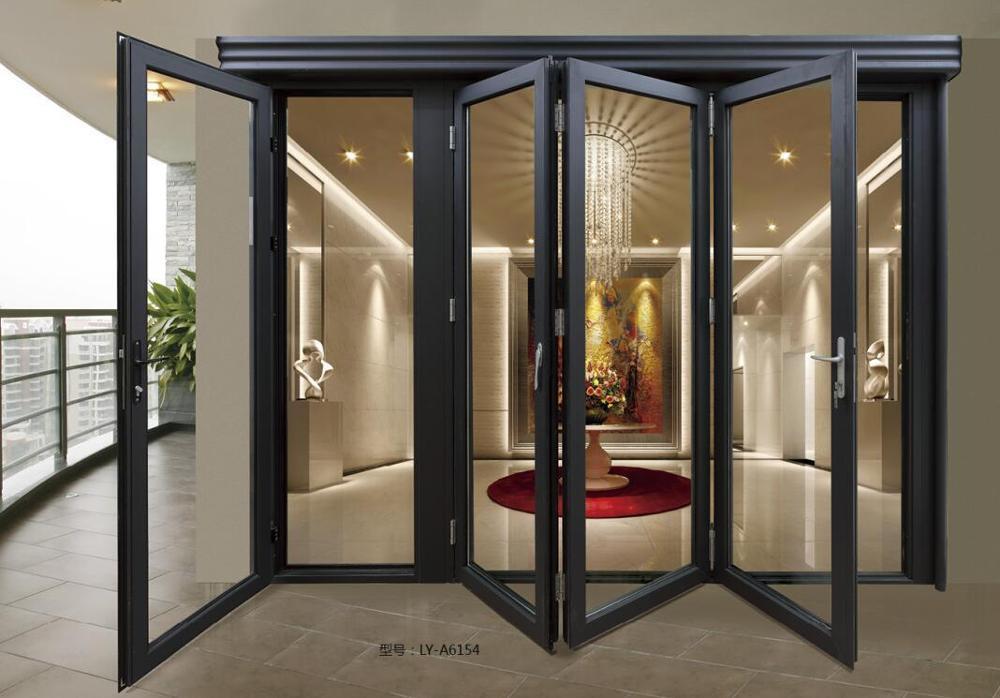 standard aluminum sliding folding glass door bifold door