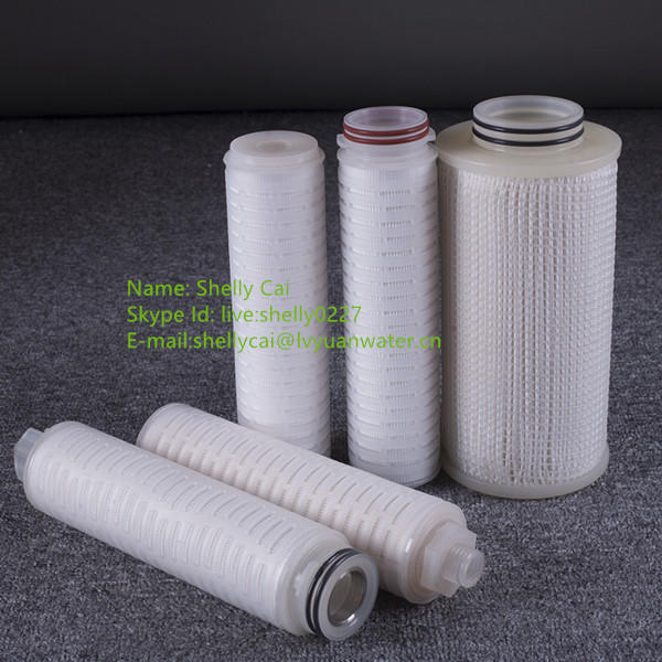 China supplier pleated membrane filter cartridge for condensate water