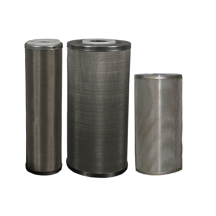 20 inch high quality sintered porous SS 304 316L 50 microns stainless steel metal water filter for oil liquid treatment filter