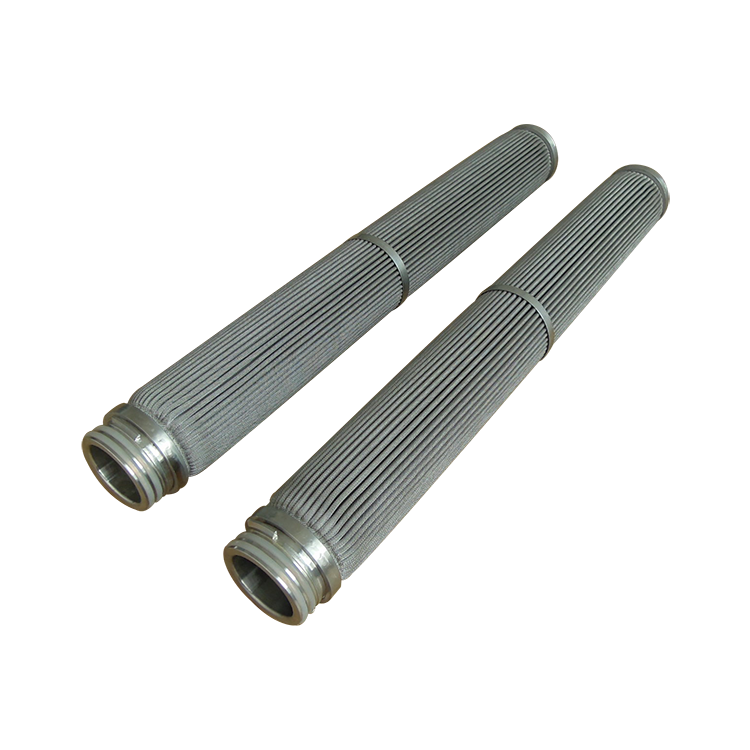 Cylinder & slim candle sintering powder filter 20 microns sinter stainless steel filter with thread screw M20 M42