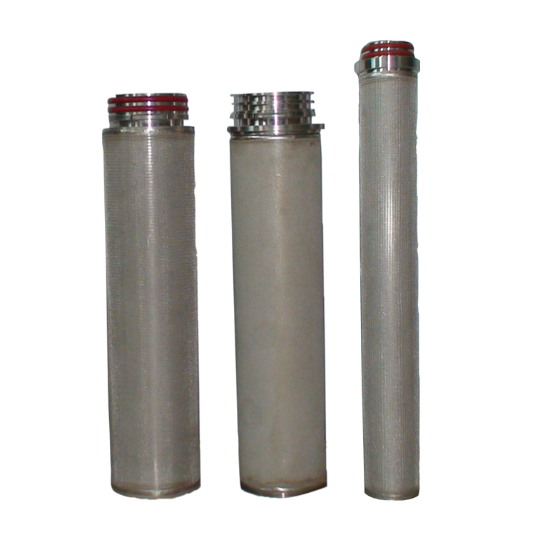 Replacement 1 ~ 100 microns sintered powder filter stainless steel 304 316L ss filter cartridge for fuel oil treatment plant
