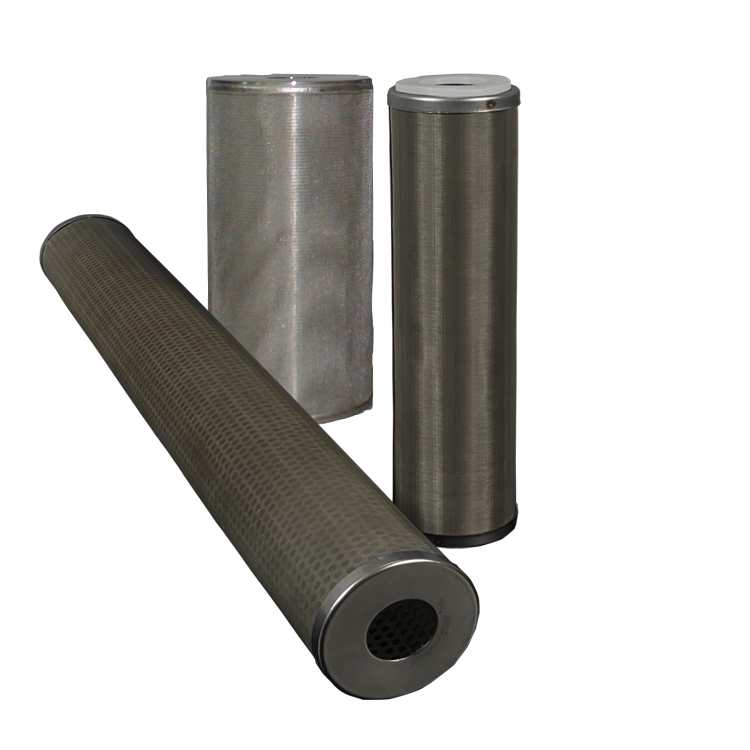 Stainless steel 50 microns material 10 20 30 40 inch sintered metal filter rod with screw connection M20 M30 M40