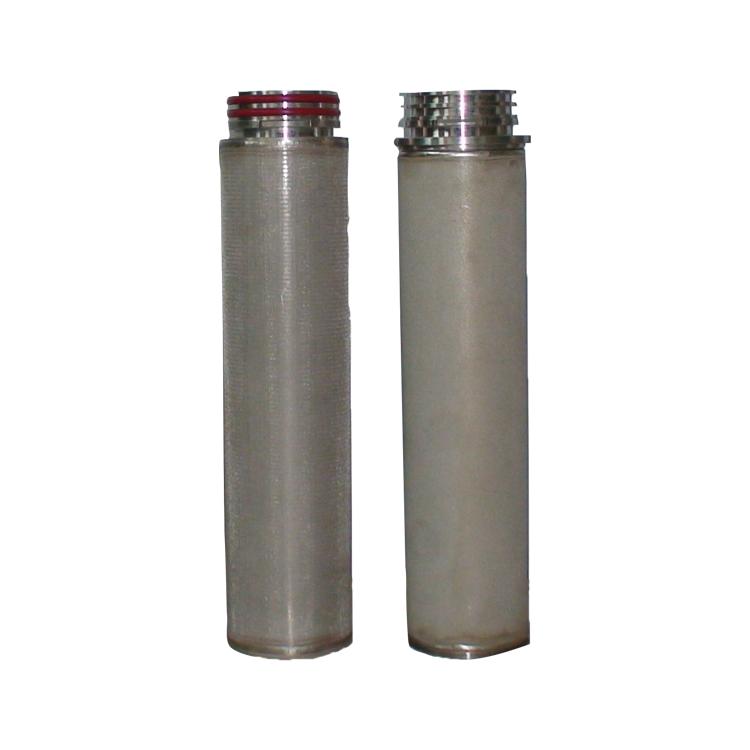 SS 304 316L sintered SS filter 40 micron sinter stainless steel mesh filter for liquid diesel oil treatment filter