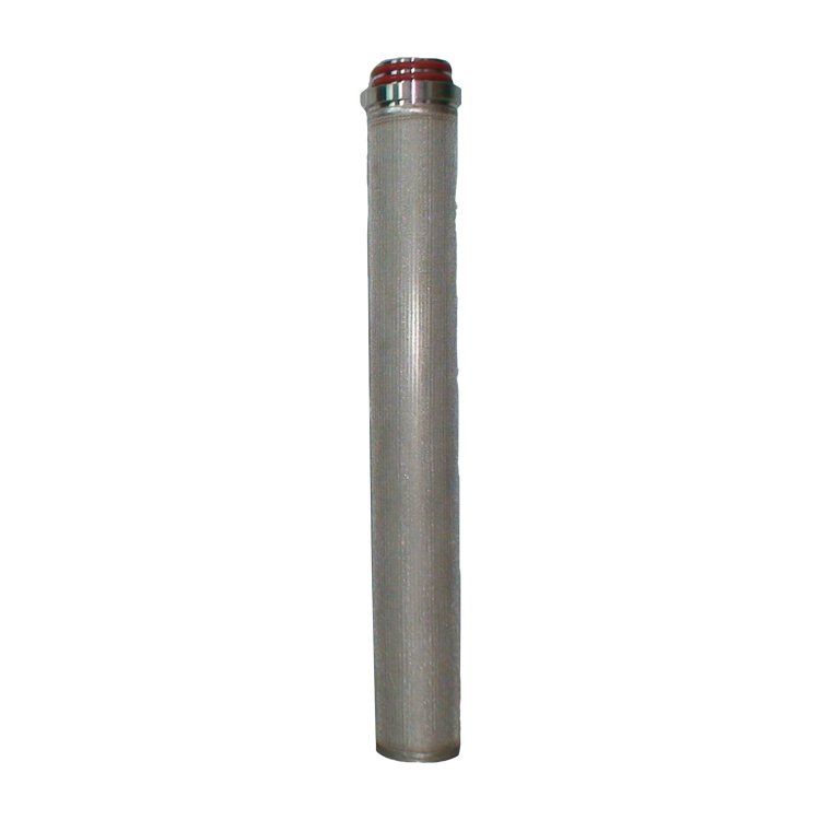 Water filter equipment DOE 20 inch ss housing cartridge filter 316L stainless steel with high purity metal powder element