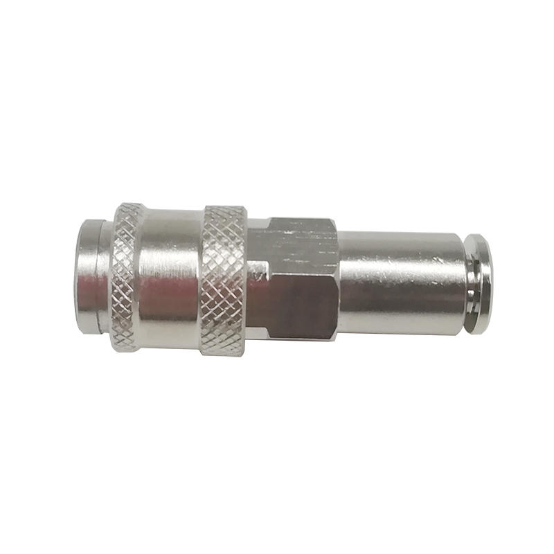 TZS-SK6 TZS-SK8 TZS-SK10 Brass Euro Type Self Locking Mini Coupler TZS Series Pneumatic Slivery Push In Coupler