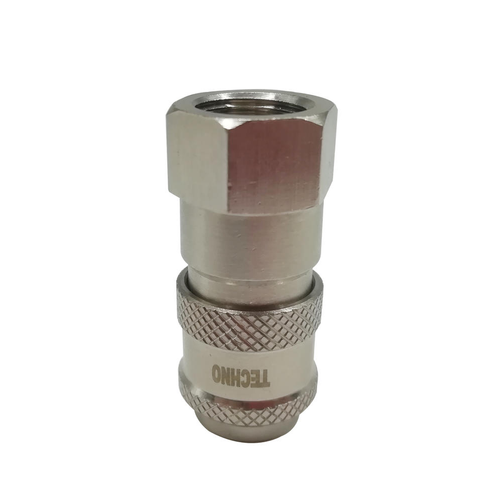 Brass Self Locking Mini Coupler TZS-SF1/8 TZS-SF1/2 Pneumatic Euro Type Female SocketCoupler
