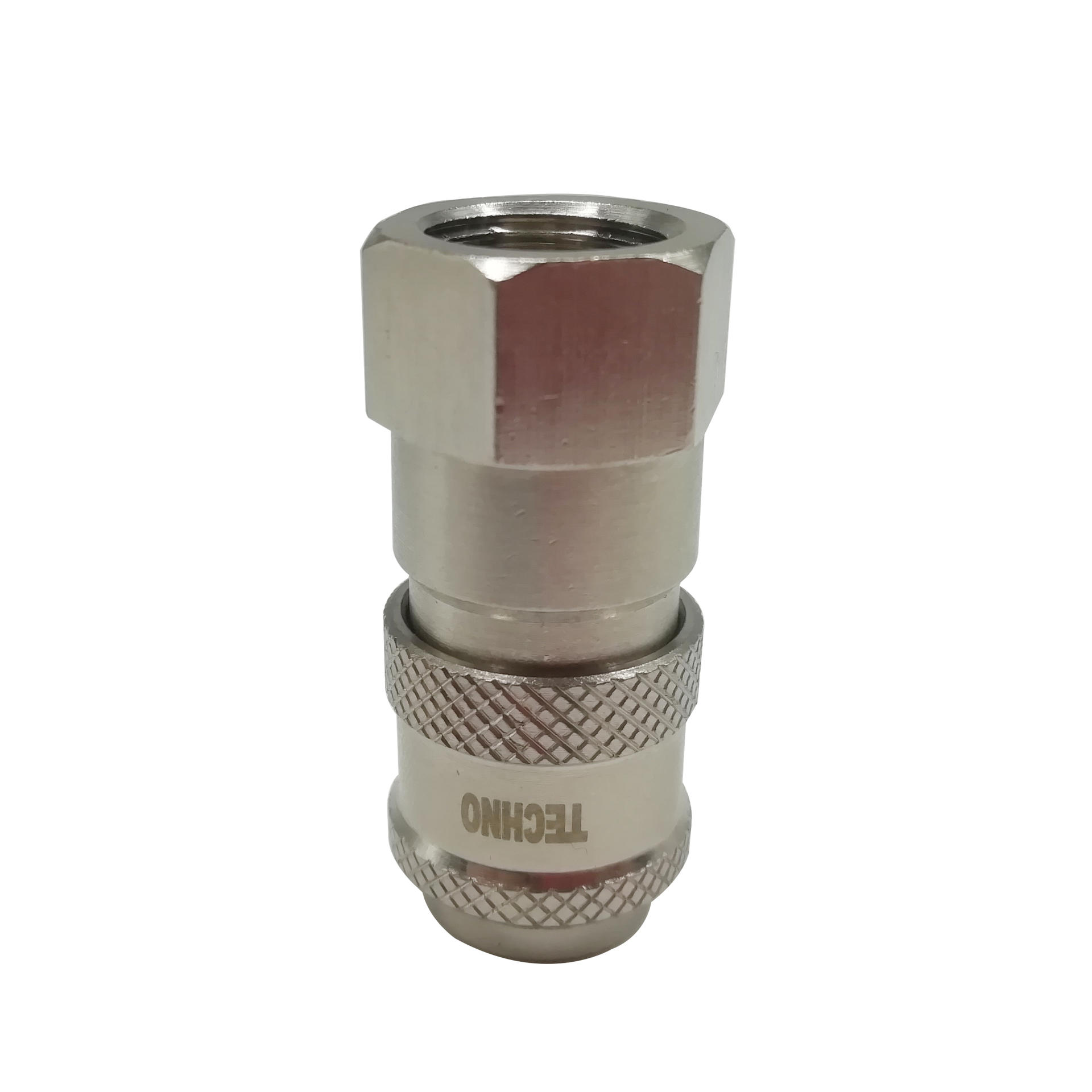 Brass Self Locking Mini Coupler TZS-SF1/8 TZS-SF1/2 Pneumatic Euro Type Female SocketCoupler