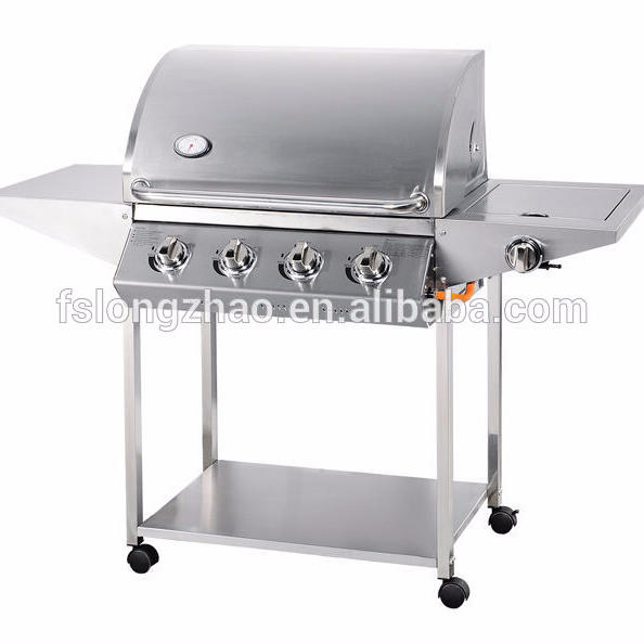 Simple SUS201 4burner and 1side burner Barbecue Gas Grill A104S