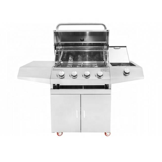 Barbecue Life Outdoor Kitchen Garden Cooking 4 Burner Gas Grill Machine Stainless Steel BBQ