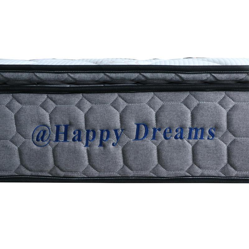 Queen size Double pillow top pocket spring mattress