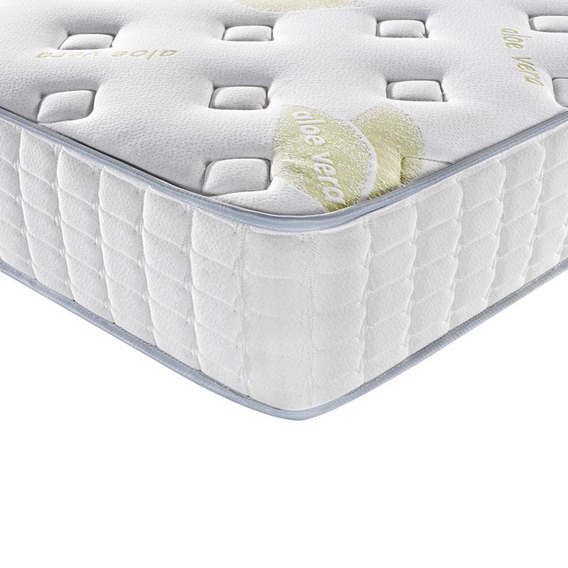 10 inches Aloevera fabric medium firmking pocket spring mattress