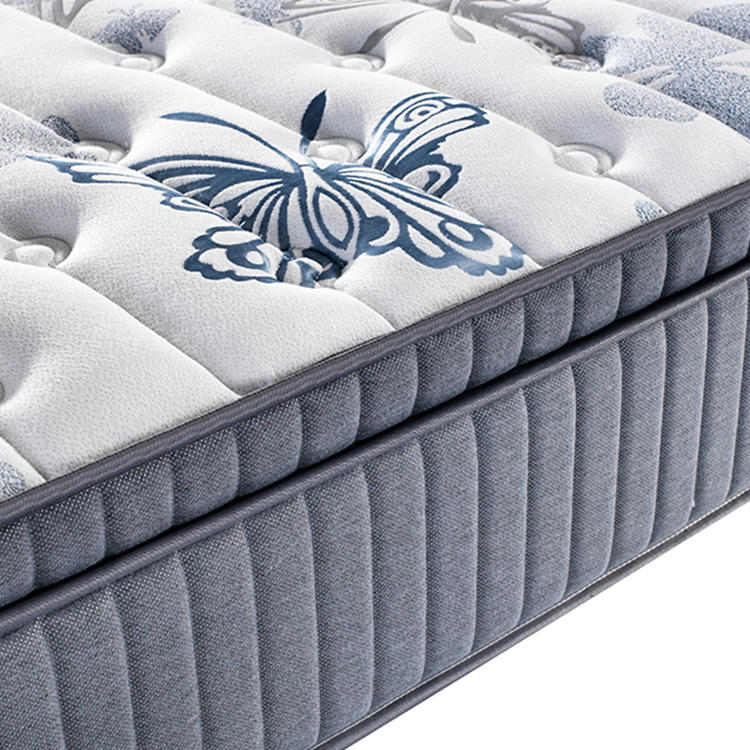 Euro queen king size compress pocket spring foam bed mattress for hotel price