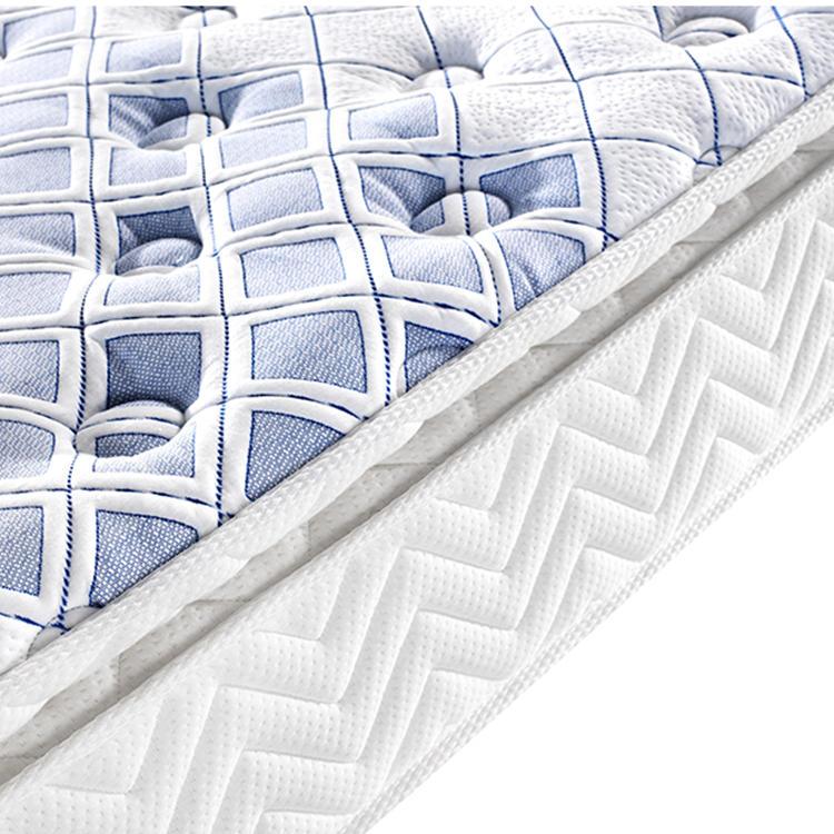 Pillow top design white full size memory foam spring mattress