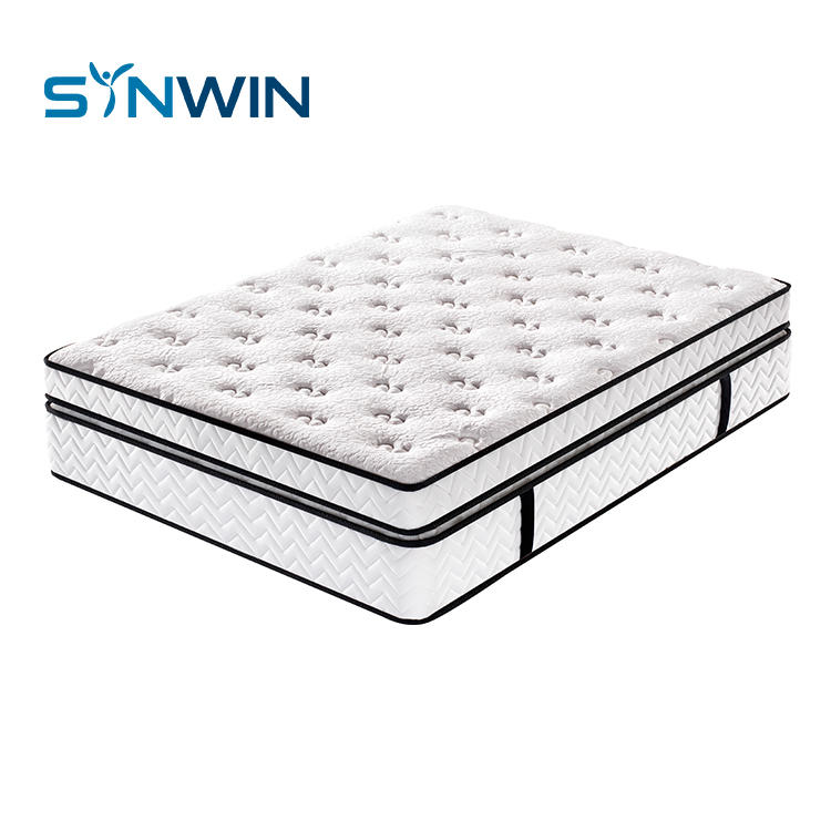 37cm Double spring luxury euro top pocket spring mattress