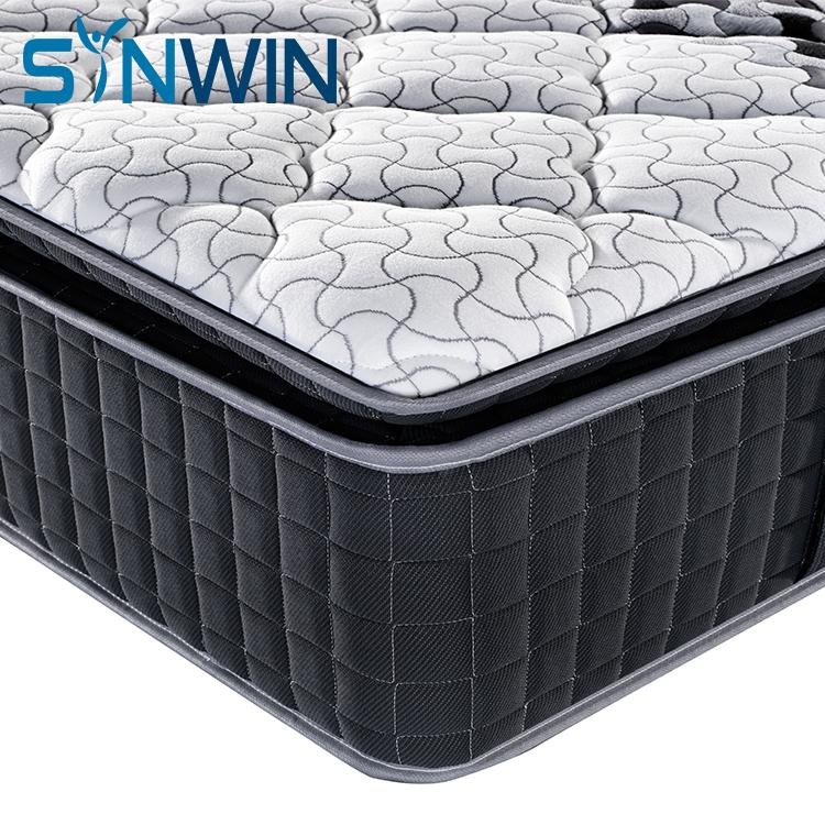 3 zones pocket spring memory foam mattress 5 star hotel wholesale pillow top mattress