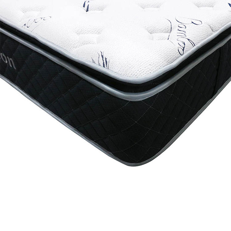 Bamboo Fabric Customized Euro Top Rollable Pocket Coil Spring Mattress
