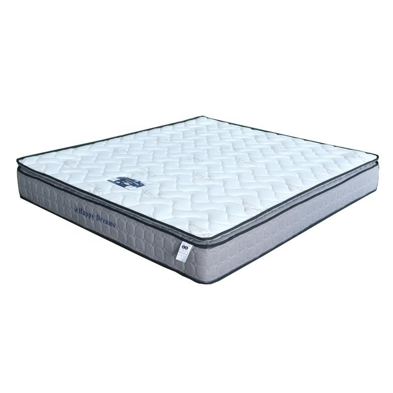 Queen size Double pillow top pocket spring mattress