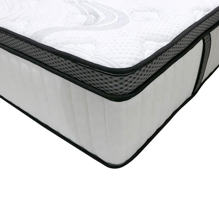 34 cm High End Plush euro Top Coolux Memory Foam Firm spring mattress