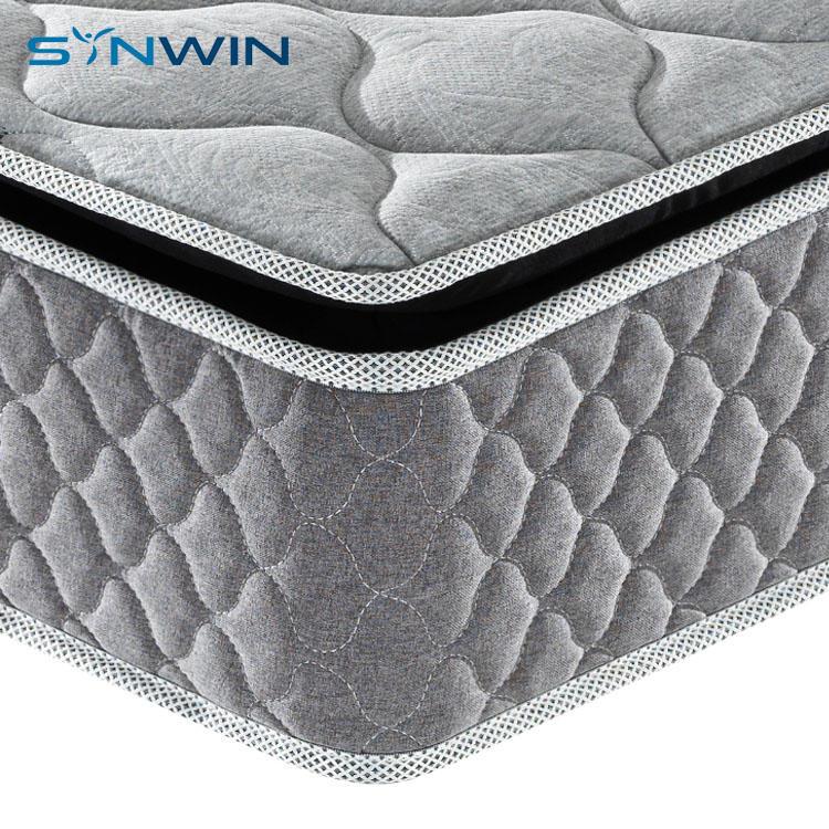 27cm grey color full size 5 zones pocket spring mattress