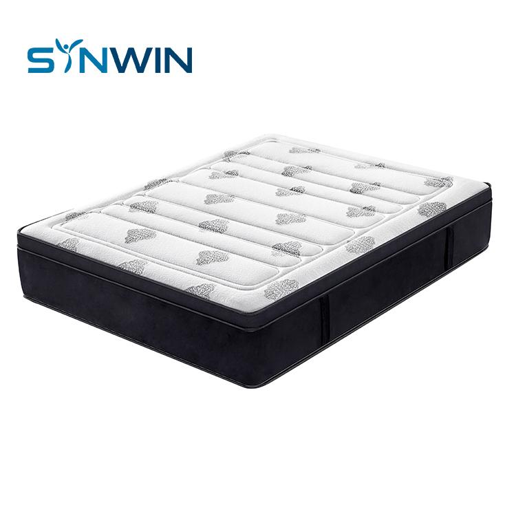 Luxury eurotop mattress foam encase euro pocket spring mattress
