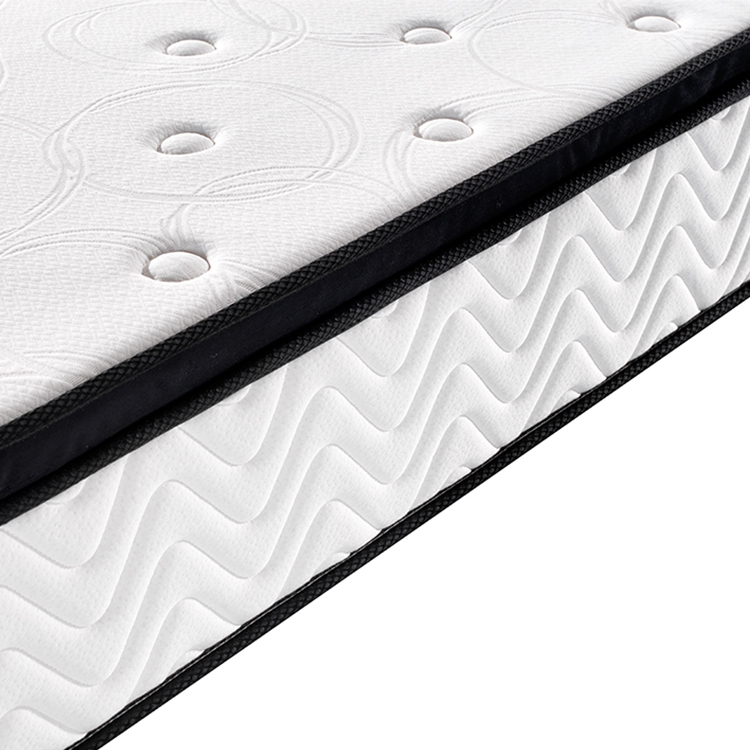 25cm plain home used wholesale roll or compressedpocket spring mattress