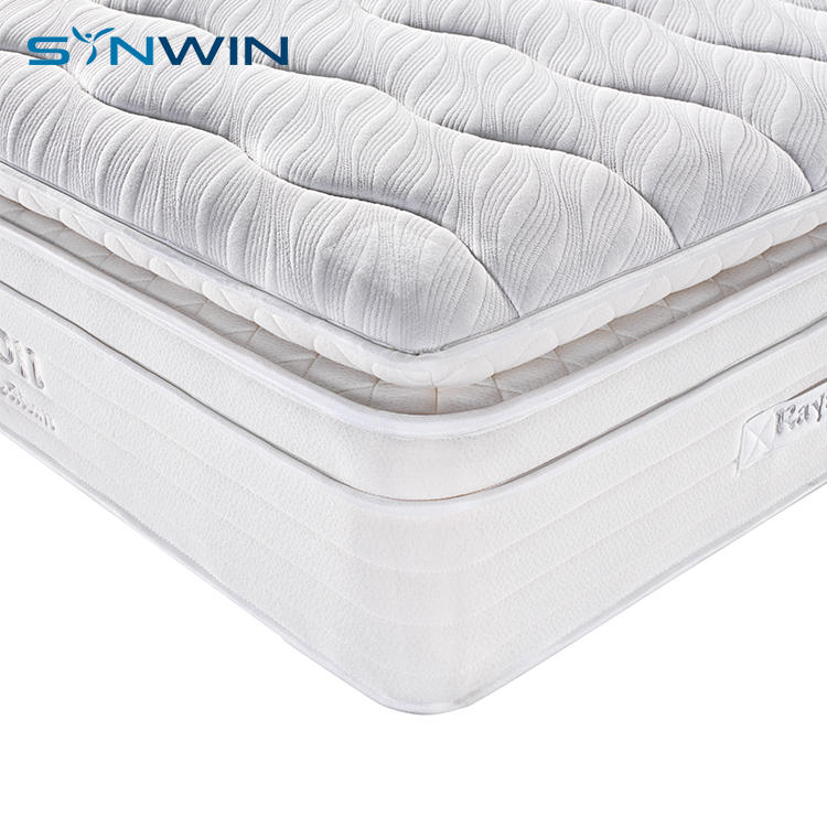 Hostel furniture sleep wellpillow top customizable high class pocket spring mattress
