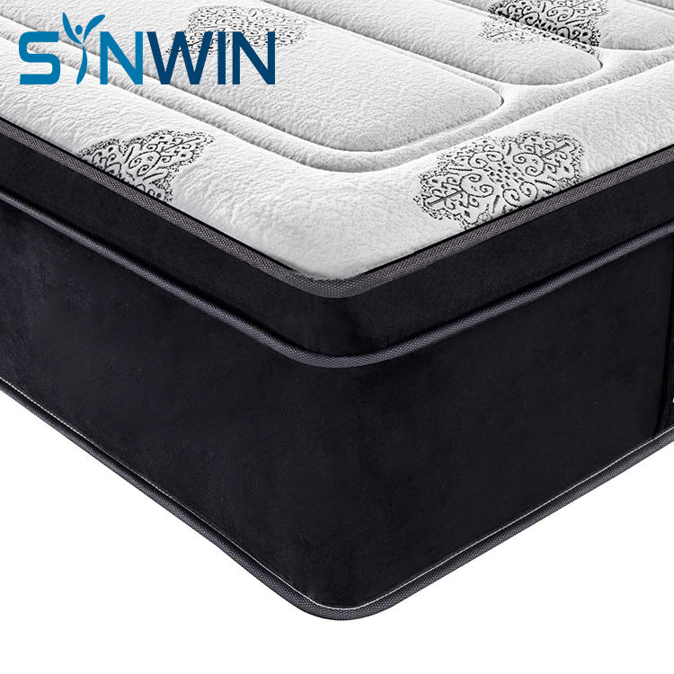 Euro top pocket spring mattress Memory foam mattress foam encased 5 star hotel mattress OEM ODM