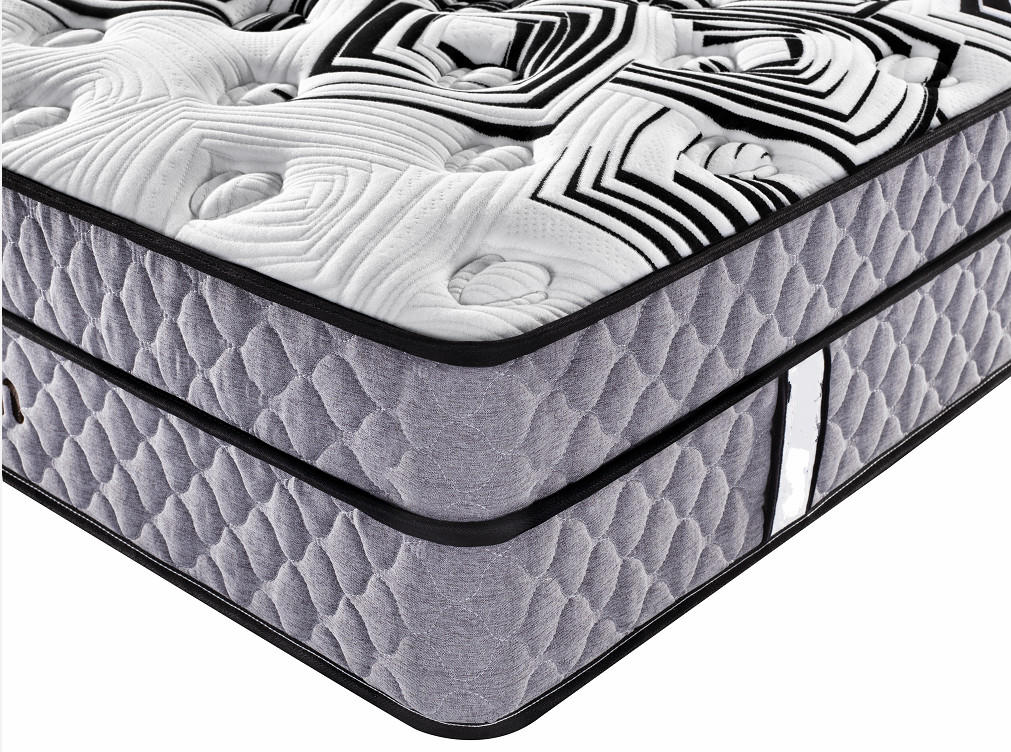 Wholesale doublebonnell Spring Bedroom Furniture Bed Foam euro Top Mattress