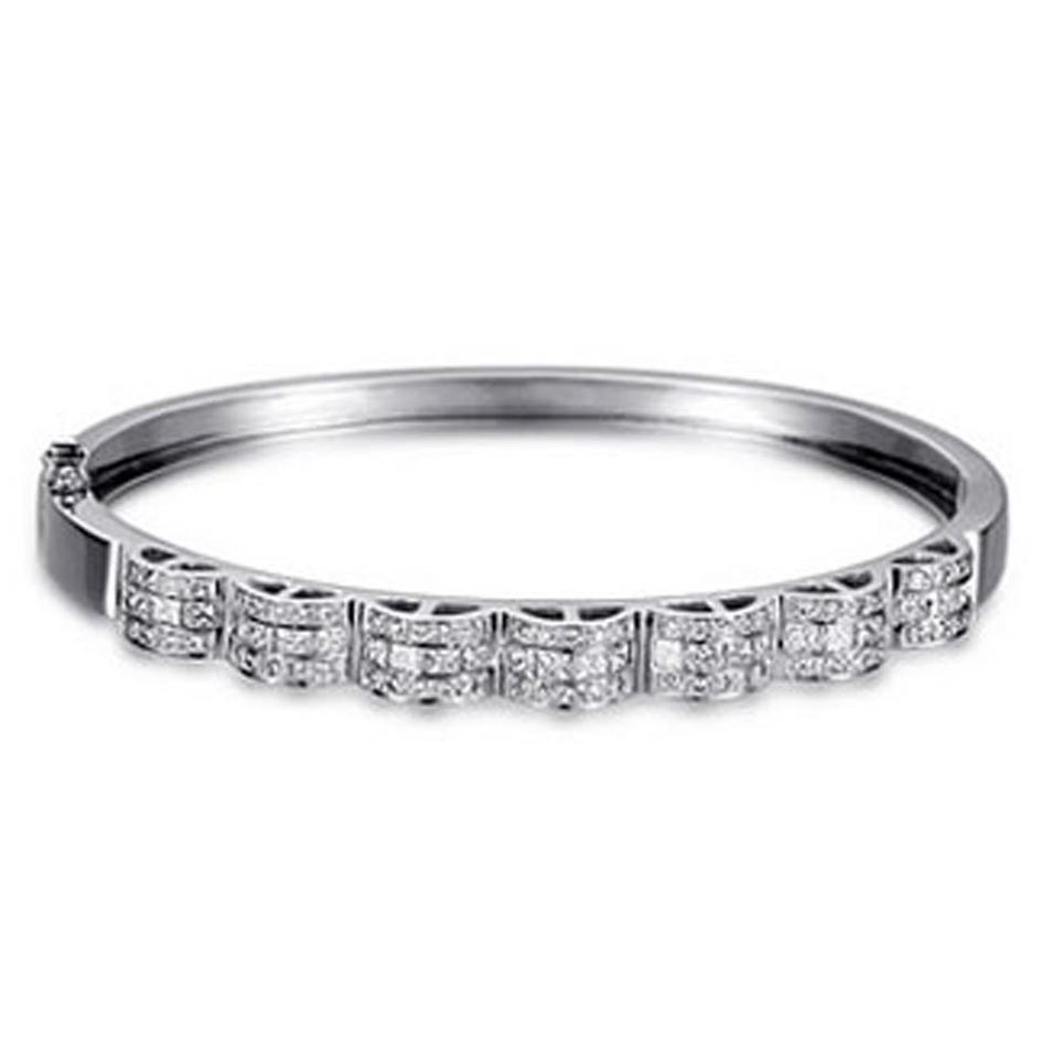 Magnificent Multi CZ Silver Jewelry Grandmother Charm Bracelet